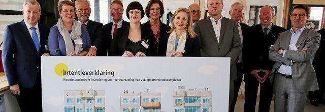 Een  financieringsmodel dat zorgt voor verregaande verduurzaming van 1,2 miljoen private appartementen in Nederland is een stap dichterbij