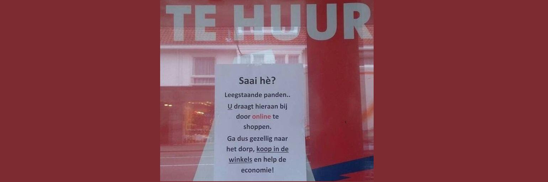 Het is de bedreiging van elke binnenstad: leegstand. De klant de schuld ervan geven is de wereld op z'n kop, stelt Jan-Willem Wesselink.