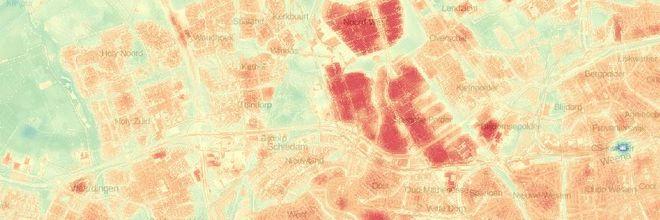 Nationale Hittestress Kaart