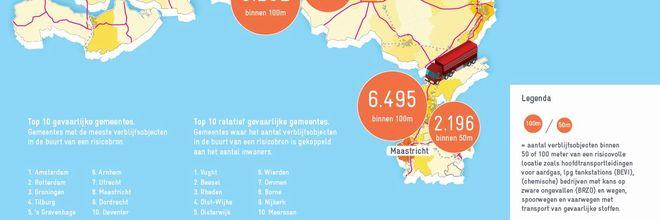 Zoek je een veilige plek? Ga dan naar de Waddeneilanden, Montfoort of Rozendaal. Daar is aantal mensen dat in de buurt van een risicobron wonen het kleinst.