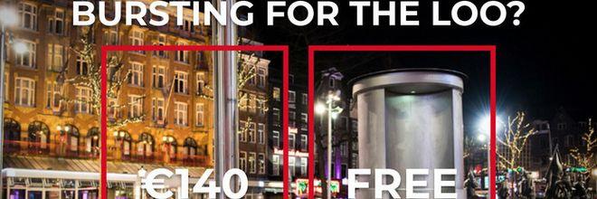 Lallende toeristen in Amsterdamse openbare ruimte worden beboet