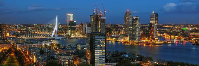 Meeste lege kantoren in Rotterdam