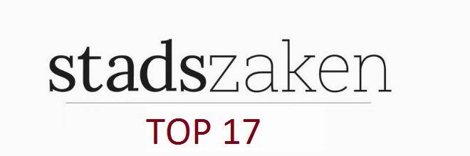 Toch presenteren we ook dit jaar weer een Stadszaken Top 17, met de Omgevingswet, het woondebat, winkelen en Hans Leeflang