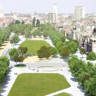 De Antwerpse Gedempte Zuiderdokken worden getransformeerd tot een enorme stadstuin. Antwerpen krijg zo een oase vol groenzones voor onder meer ontspanning.