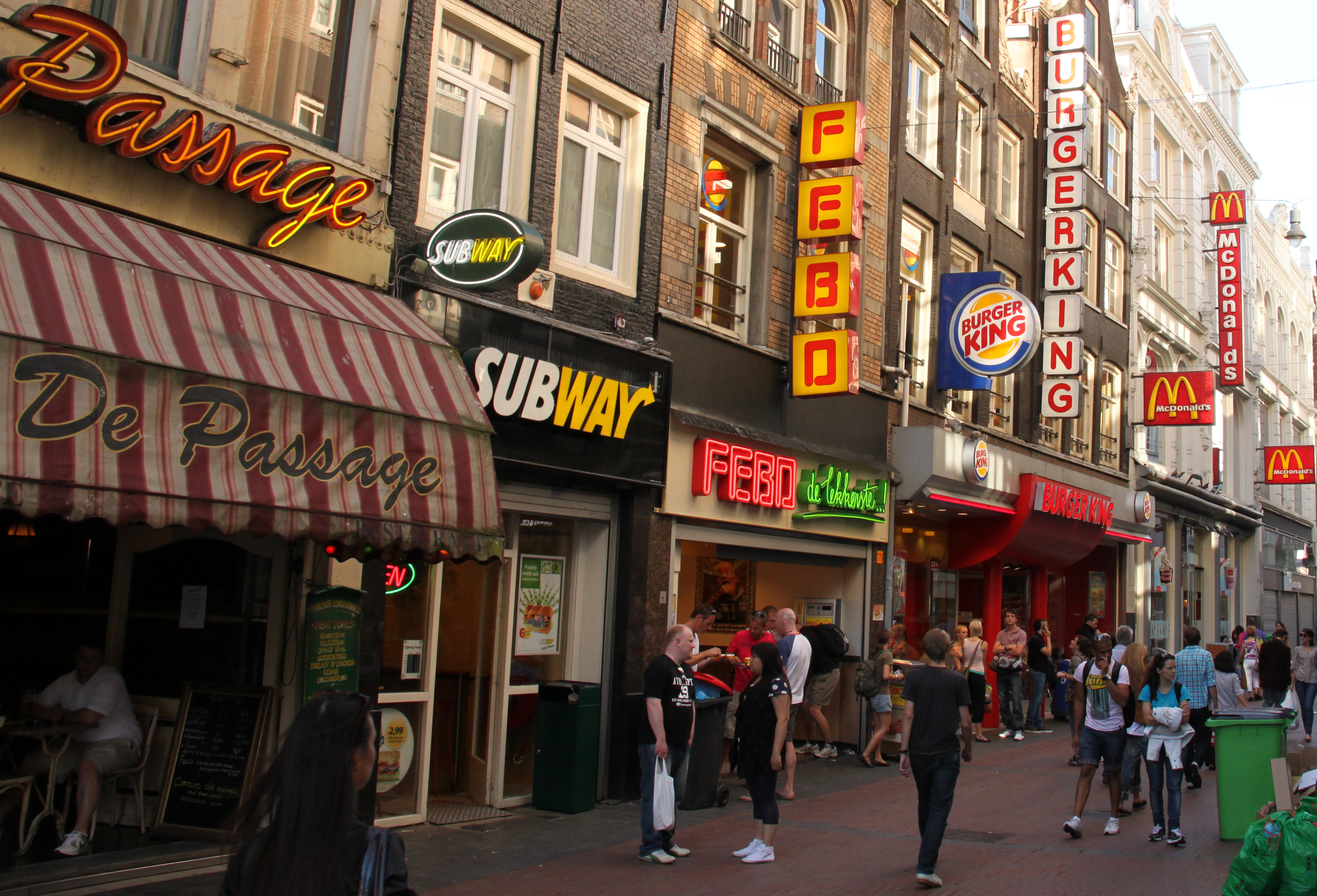 Fastfood ketens in Amsterdam