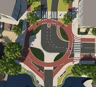 De eerste exclusieve rotonde voor fietsers is vlak voor de jaarwisseling in gebruik genomen.