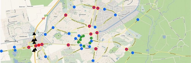 Sensor city Assen is een grootschalig stedelijk meetnetwerk waarmee toepassingen van complexe sensorsystemen kunnen worden ontwikkeld.